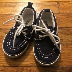 GYMBOREE Spring Forward Boat Shoes Boys Navy Blue NWT Size 5
